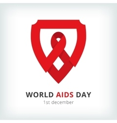 World aids day symbol icon vector