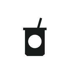 Yogurt icon in on white background vector