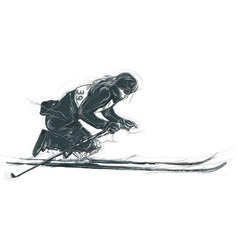 athletes with physical disabilities - skiing vector image