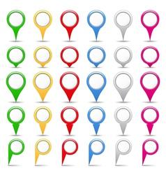 Map Pins vector image vector image