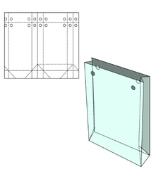 Shopping Bag template vector image vector image