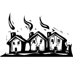 Three Houses vector image vector image