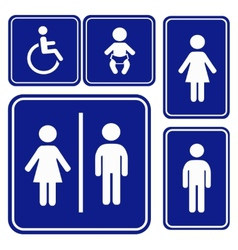 toilette sign vector image