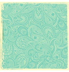 Vintage paisley background vector image