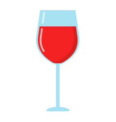 wine glass flat icon food and drink alcohol vector image vector image