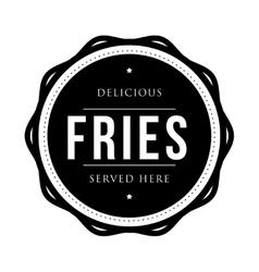 Fries vintage stamp vector