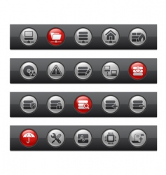 network and server bars vector image