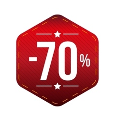 Sale seventy percent off banner red patch vector image