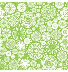 Abstract green and white circles seamless pattern vector image vector image