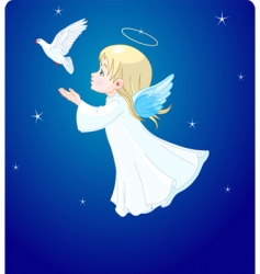 angel with dove vector image