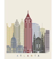 Atlanta skyline poster vector image