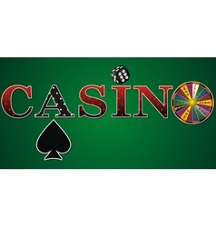 casino sign green fort vector image