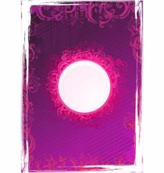 floral pink frame vector image vector image