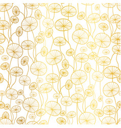 golden white underwater seaweed plant vector image vector image