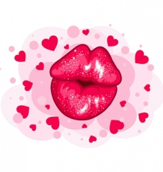 love kiss design vector image