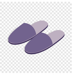 Pair of slippers isometric icon vector
