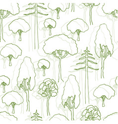 trees pattern seamless pattern of trees vector image