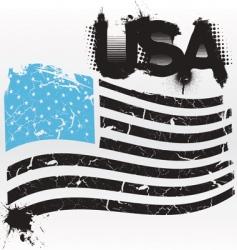 american grunge vector image vector image