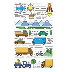 color flat transportation vector image vector image
