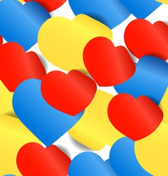 Colorful paper hearts seamless background vector image vector image