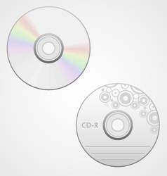 compact disk vector image