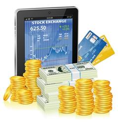 Financial Concept - Make Money on the Internet vector image vector image