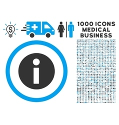 Information icon with 1000 medical business vector