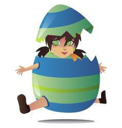 jumping egg vector image