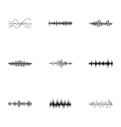 Music icons set simple style vector image