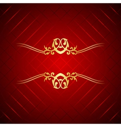 Red gold luxury background vector image vector image