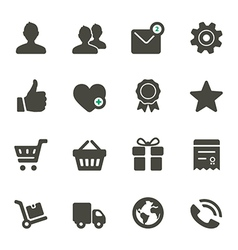 Universal icons set 1 vector image vector image