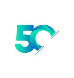 50 years anniversary celebration tosca green vector