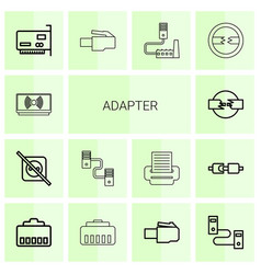 adapter icons vector image
