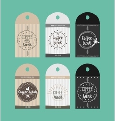 advertising sticker badge coffee shop vector image
