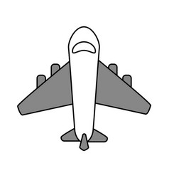 Airplane flat vector