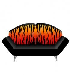 Animal print chair vector