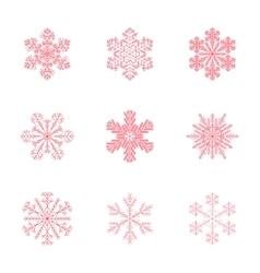 Assembly flat snowflake vector