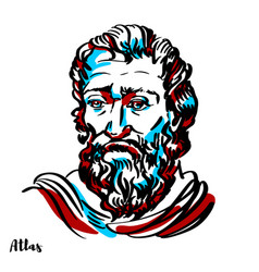 Atlas portrait vector