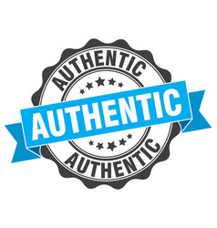 authentic stamp sign seal vector image