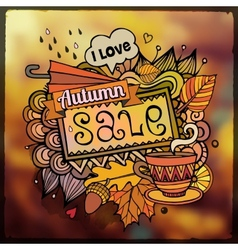 Autumn sale blurred background vector