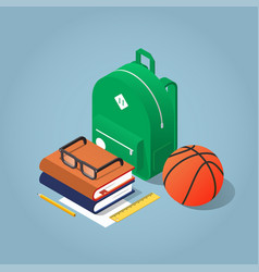 Back to school isometric vector