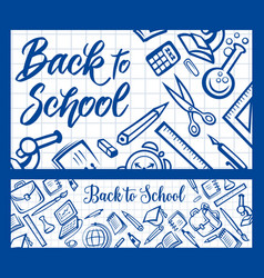 back to school student education and college study vector image