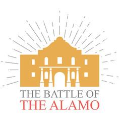battle alamo design vector image