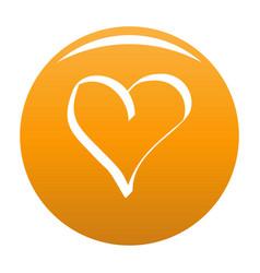 Best heart icon orange vector