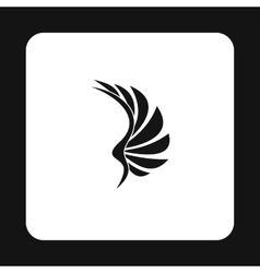 Birds wing icon simple style vector