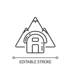 Bivouac shelter linear icon vector