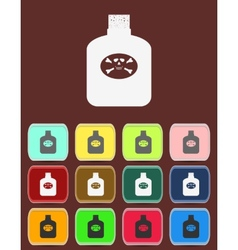 Bottle Of Poison with color variations vector