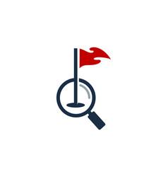Browse golf logo icon design vector