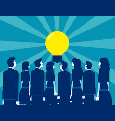 Business people looking for leader ideas concept vector