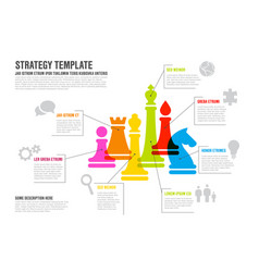 Business strategy infographic template infographic vector